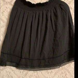 Mid length black skirt